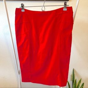 Stretchy Red Pencil Skirt
